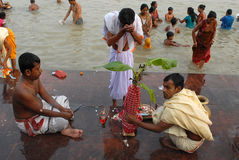 Bengali Community At Durga Festival Stock Images