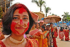 Bengali Community At Durga Festival Stock Images