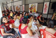 Bengali community at Kolkata Royalty Free Stock Photography