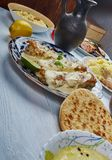 Bengali cuisine. б Asia Traditional assorted dishes, Top view royalty free stock photo