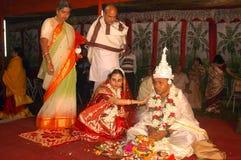 Bengali, das Rituale in Indien wedding ist lizenzfreies stockbild