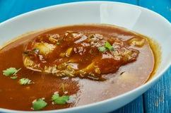 Bengali doi maach. Bengali Fish Curry with fresh cilantro Stock Photography