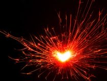 Bengali fire. Festive new year background Royalty Free Stock Photos
