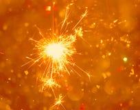 Bengali fire. Festive new year background Stock Photos