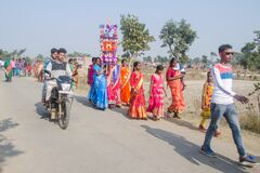 Free Bengali Folk Festival Called `TUSU FESTIVAL` Stock Image - 199709641