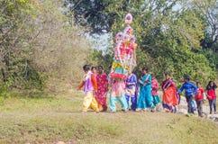 Bengali folk festival called `TUSU FESTIVAL`