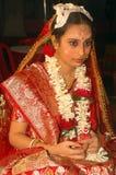 bengali gifta sig för india ritualer Arkivbilder