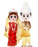 Bengali illustration för bröllopparvektor arkivbild