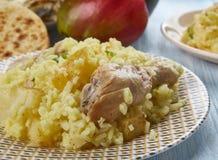 Bengali Muri Ghonto. Muri Ghonto, popular dish Bengali cuisine, Asia Traditional assorted dishes, Top view Stock Images