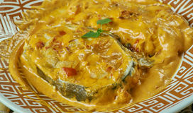 Bengali mustard fish Curry. Fish cooked with masala in mustard oil tastes stock photography