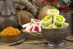Bengali Peda. Indian special traditional sweets food Bengali Peda stock photo