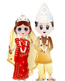 Bengali Wedding Couple Vector Illustration Stock Photography