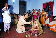 Bengali Wedding Rituals in India Royalty Free Stock Images