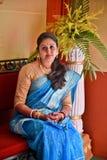 Bengali Woman. A Bengali woman with traditional saree Stock Photography