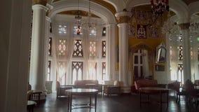 Artwork at Banglaore Palace, Bengaluru, India. BENGALURU, INDIA - FEBRUARY 20, 2017: Interior decoration of famous Bangalore Palace. It was private residence of Royalty Free Stock Photo
