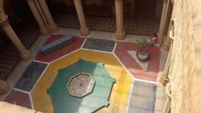 Artwork at Banglaore Palace, Bengaluru, India. BENGALURU, INDIA - FEBRUARY 20, 2017: Interior decoration of famous Bangalore Palace. It was private residence of stock images