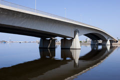 Benghazi Bridge. A Bridge and its reflection over Benghazi lake in Libya Royalty Free Stock Image