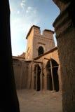 Benhaddouhof van Kasbah AIT Royalty-vrije Stock Fotografie