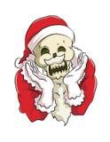 Benhuvud Santa Claus Arkivbild