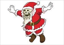 Benhuvud Santa Claus Arkivbilder
