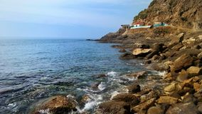 Beni belaid海滩 jijel -阿尔及利亚 免版税库存图片