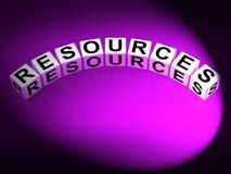 Beni collaterali e risparmio di media dei dadi delle risorse illustrazione di stock