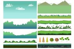 Beni del gioco di Platformer illustrazione vettoriale
