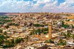 Beni Isguen, Mzab谷的一个城市看法  联合国科教文组织世界遗产在阿尔及利亚 免版税图库摄影