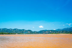 Beni River and Hills Royalty Free Stock Images