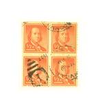 beniaminu Franklin znaczki Fotografia Royalty Free