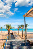 Benicasim in Castellon Benicassim beach at Mediterranean Royalty Free Stock Photography