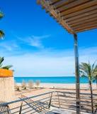 Benicasim in Castellon Benicassim beach at Mediterranean Royalty Free Stock Photos