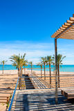 Benicasim in Castellon Benicassim beach at Mediterranean Royalty Free Stock Images
