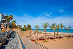 Benicasim in Castellon Benicassim beach at Mediterranean Stock Images