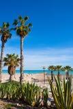 Benicasim in Castellon Benicassim beach at Mediterranean Royalty Free Stock Image
