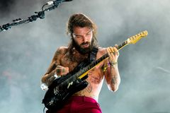 Biffy Clyro rock music band perform in concert at FIB Festival Stock Image