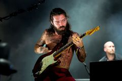Biffy Clyro rock music band perform in concert at FIB Festival Stock Photo