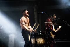 Slaves punk rock music band perform in concert at FIB Festival Stock Image