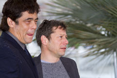 Benicio del Toro and Mathieu Amalric Stock Photo