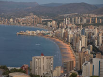 Benidorm. View of the beach of benidorm - alicante (spain Stock Photo