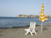 Benidorm. View of the beach of benidorm - alicante (spain Stock Photos