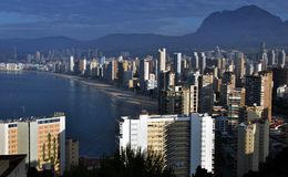 Benidorm Aerial View in the Morning Royalty Free Stock Images