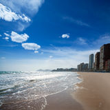Benidorm Alicante beach buildings and Mediterranean Royalty Free Stock Photography