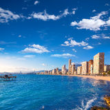 Benidorm Alicante beach in Mediterranean Spain Stock Photos