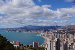 Benidorm, Alicante, Espagne, playas Levante y Poniente Photos libres de droits