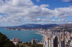 Benidorm, Alicante, Hiszpania, playas Levante y Poniente Zdjęcia Royalty Free