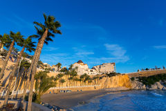Benidorm Alicante Mal Pas beach at sunset in Spain Stock Photography