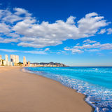 Benidorm Alicante playa de Poniente beach in Spain Royalty Free Stock Image