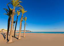 Benidorm Alicante playa de Poniente beach in Spain Stock Photo
