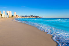 Benidorm Alicante playa de Poniente beach in Spain Royalty Free Stock Photos